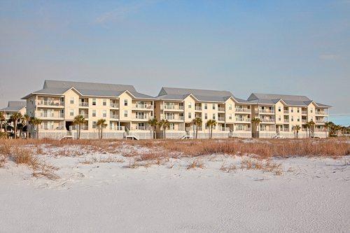 Exterior of Gulf Island Condominiums build by Mathews Development Company.