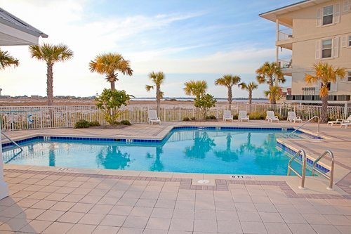 Gulf Island Condominium pool deck build by Mathews Development Company.