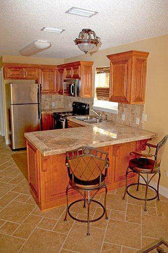 Kitchen detail of Gulf Island Condominiums build by Mathews Development Company.